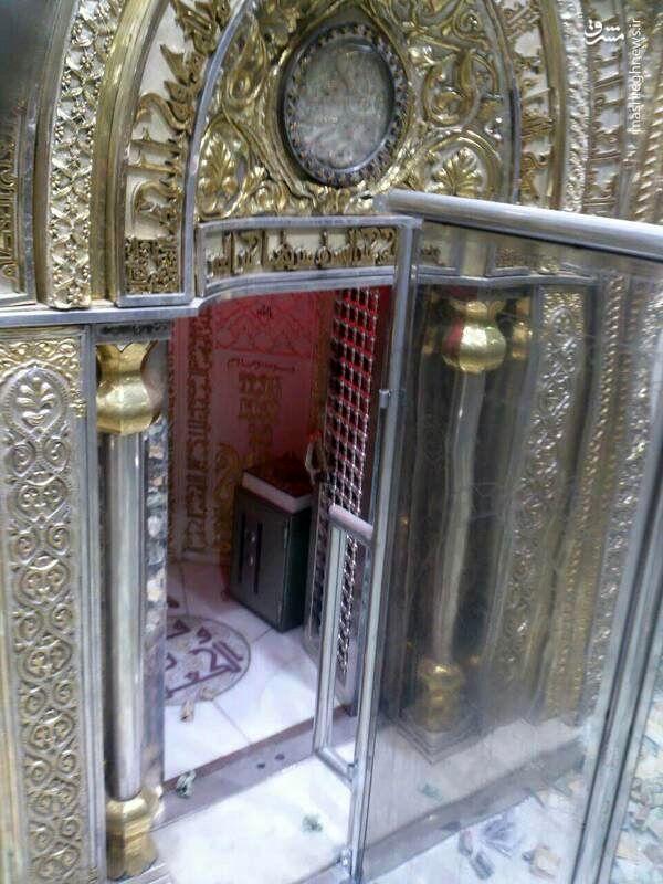 (عکس) محل ضربت خوردن حضرت علی (ع) در مسجد کوفه