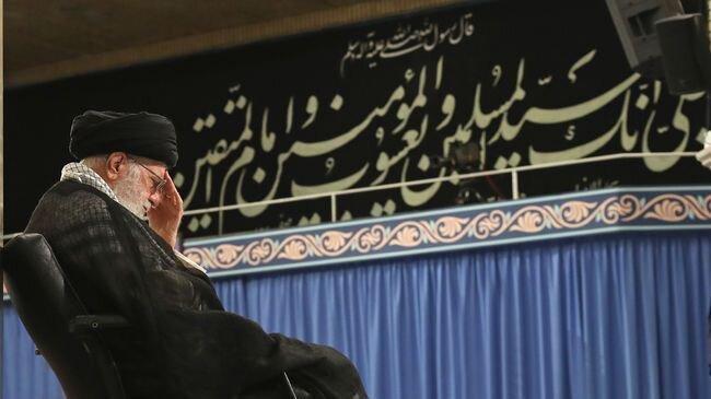 تصاویر مراسم سوگواری شهادت امام علی (ع) با حضور رهبر انقلاب