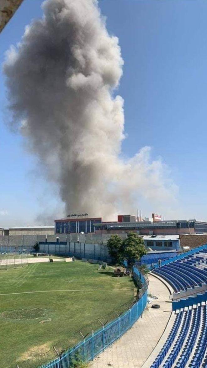 (تصاویر) انفجاری بزرگ کابل را لرزاند
