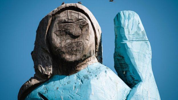 اختلافنظر بر سر مجسمه ملانیا ترامپ در زادگاهش اسلوونی