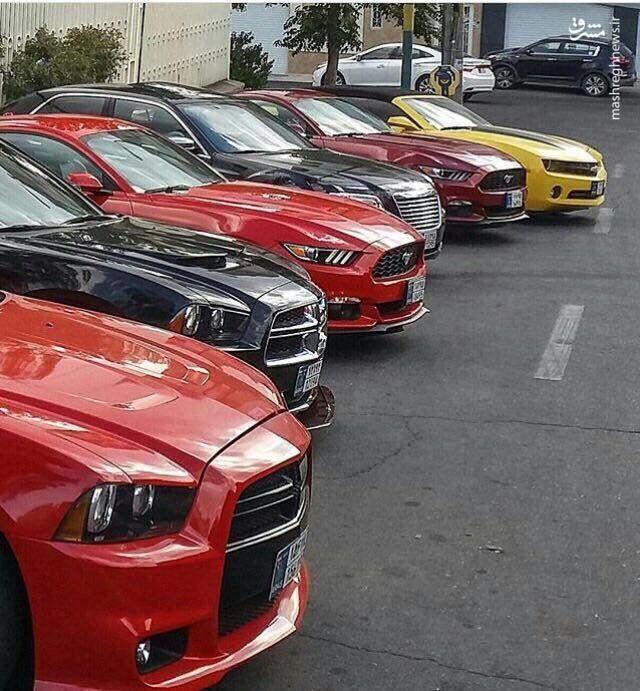 (عکس) دورهمی خودروهای لوکس آمریکایی در تبریز!
