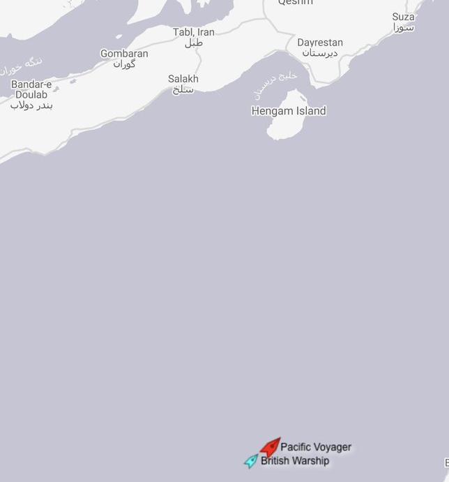 نیروی دریایی سلطنتی، نفتکش انگلیسی را در تنگه هرمز اسکورت کرد