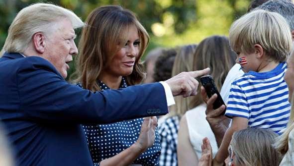 (تصاویر) پیک نیک ترامپ برای اعضای کنگره پس از سرنگونی پهپاد