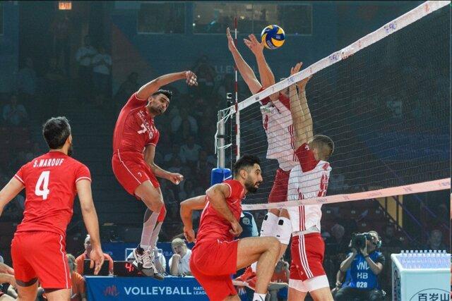 شکست تیم ملی والیبال مقابل لهستان