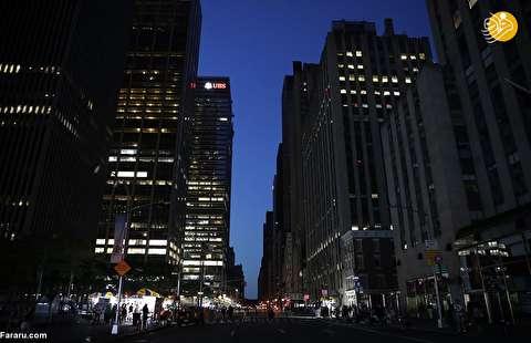 (تصاویر) قطع برق و خاموشی گسترده در منهتن نیویورک
