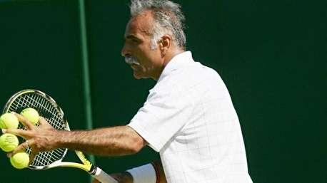 تنیس نمایشی منصور بهرامی در تنیس ویمبلدون