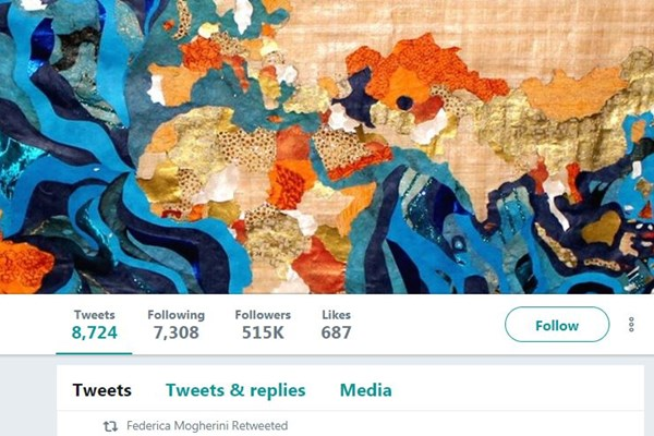 (تصویر) نقشه جنجالی در توییتر موگرینی