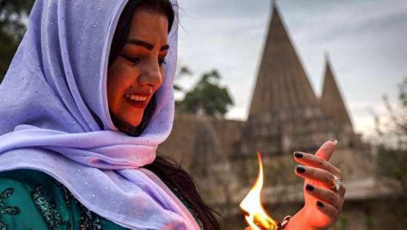 (تصاویر) حال و هوای زیارتگاه اصلی ایزدیها