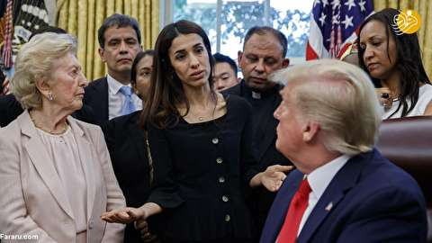 (تصاویر) دیدار برده جنسی داعش با ترامپ