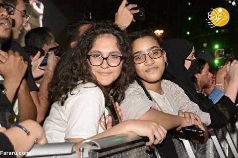 (تصاویر) نخستین کنسرت عمومی موسیقی پاپ غربی در عربستان
