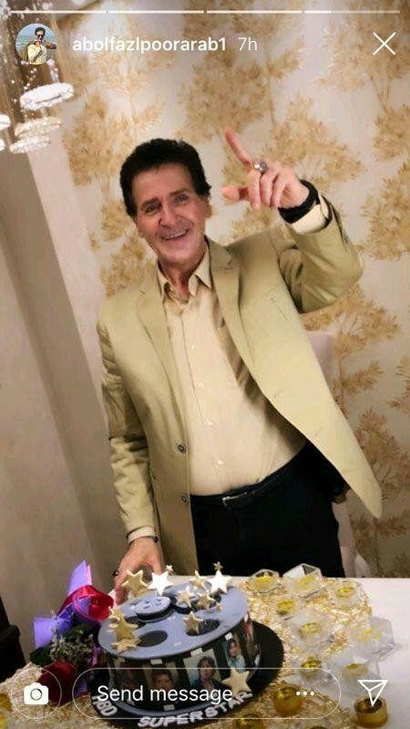 (عکس) ابوالفضل پورعرب در جشن تولد ۵۸ سالگی