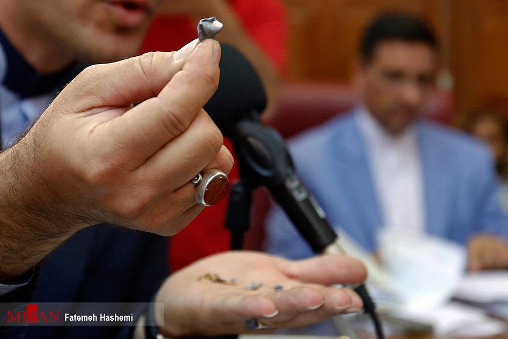 (تصاویر) پوکه گلوگههای شکلیک شده به سمت میترا استاد