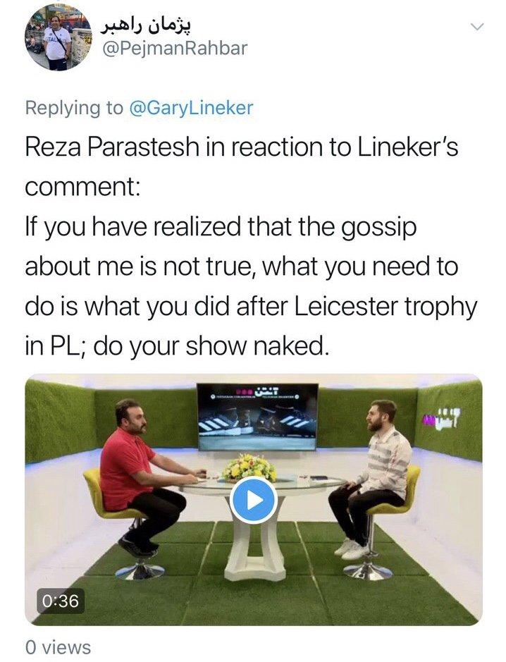 واکنش عجیب بدل ایرانی مسی به توئیت گری لینکر!