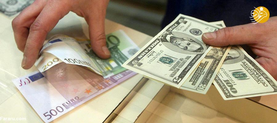 قیمت یورو و قیمت دلار در بازار امروز پنجشنبه ۶ تیر ۹۸