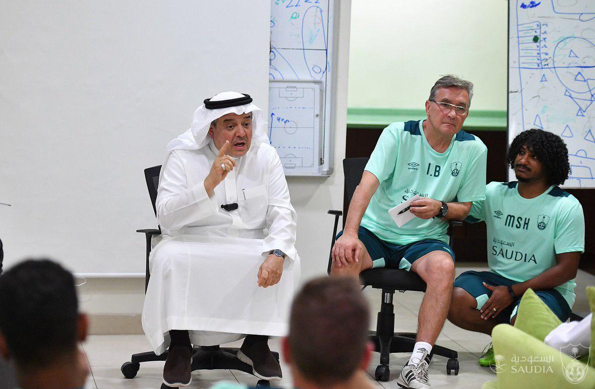 (تصاویر) اولین جلسه تمرین رسمی برانکو با الاهلی عربستان