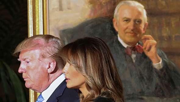 (تصاویر) ترامپ و همسرش در مراسم تشییع قاضی بزرگ