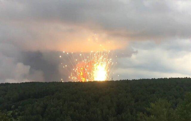 انفجار «انبار مهمات» در سیبری