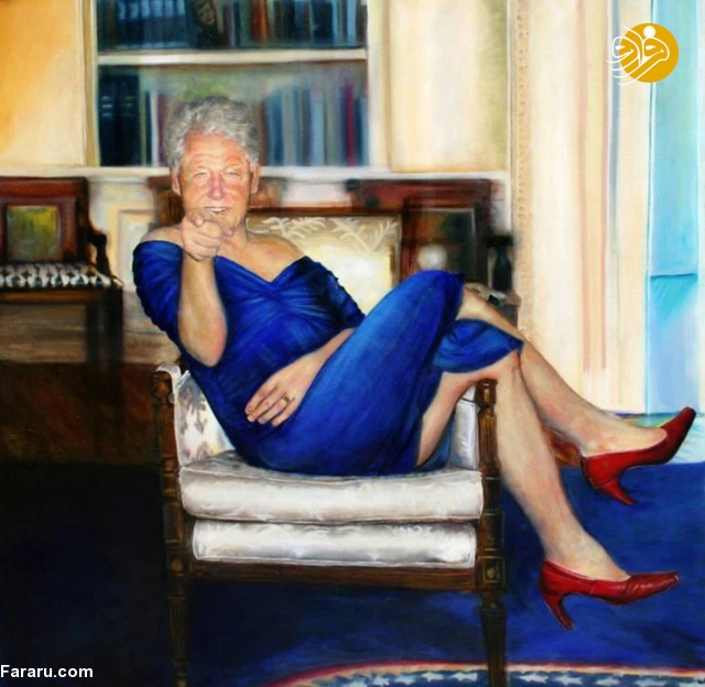 (تصویر) بیل کلینتون، رئیسجمهور اسبق آمریکا با لباس زنانه!