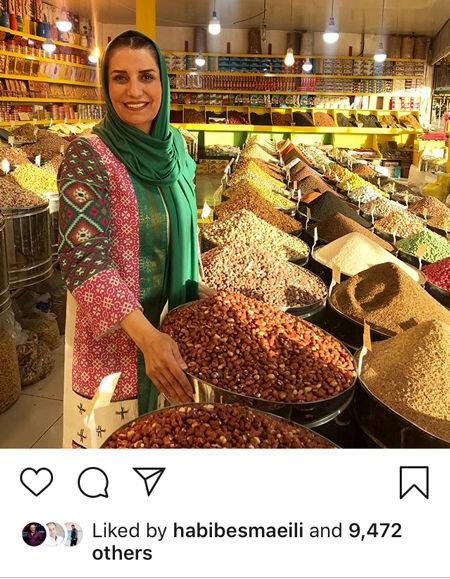 تصویری از فریبا کوثری در پایتخت آجیل ایران