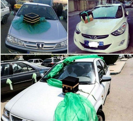 (تصویر) مد جدید؛ تزئینات خودروی حجاج خانه خدا