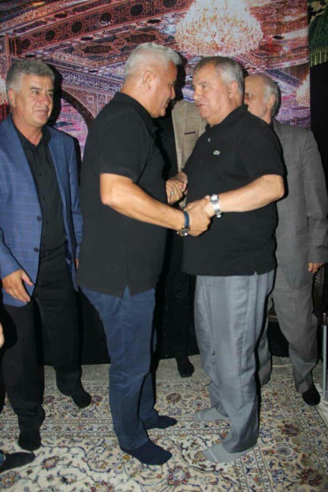 (تصاویر) پرسپولیسیها در هیئت عزاداری علی پروین