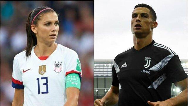 فوتبالیست زن آمریکایی علیه رونالدو