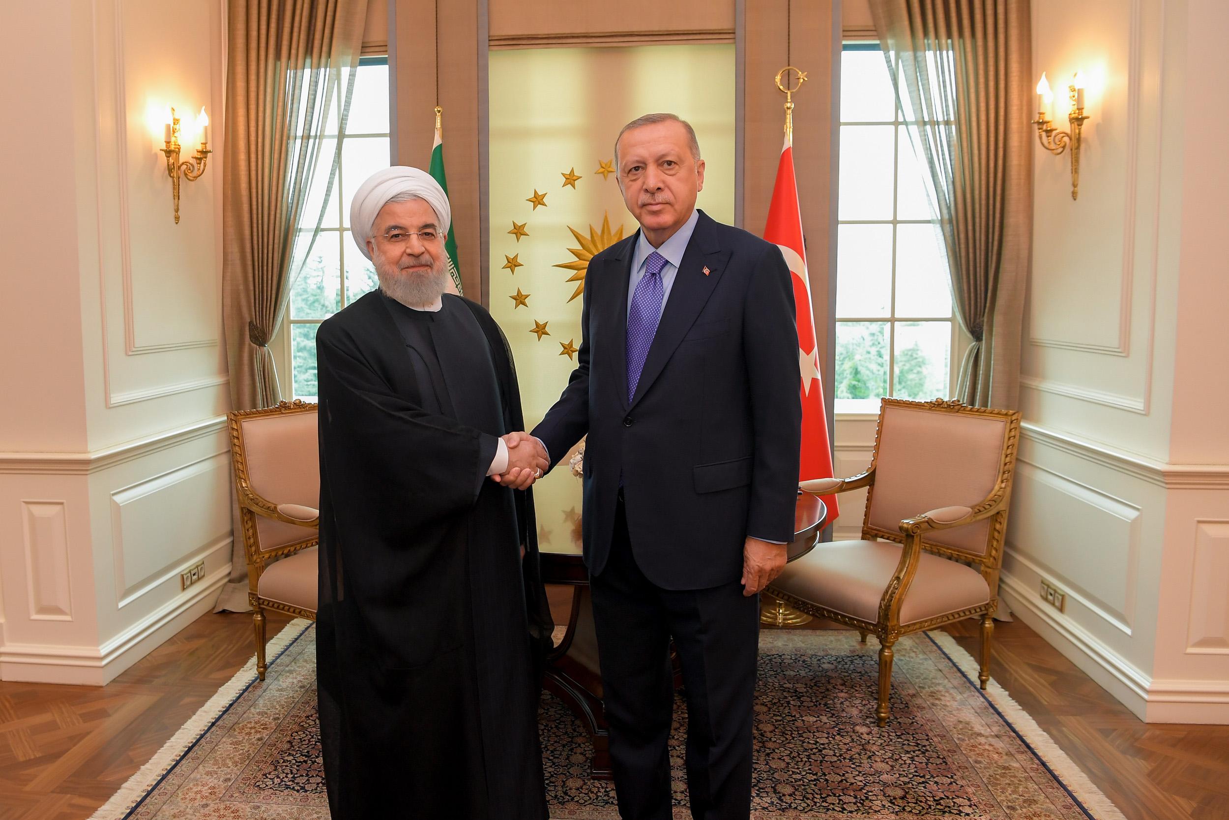 عکس دیدار حسن روحانی با رجب طیب اردوغان