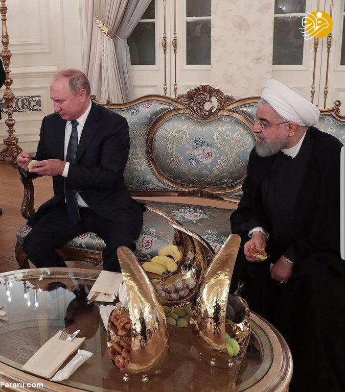 (تصویر) پذیرایی اردوغان با انجیر از روحانی و پوتین