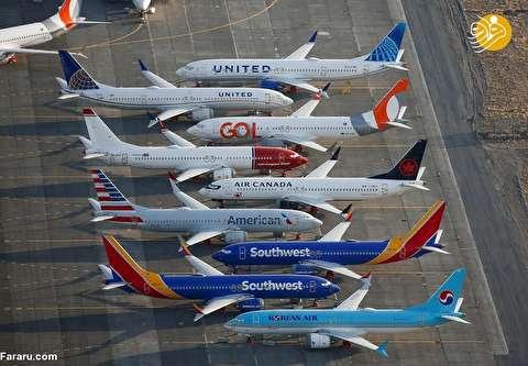 (تصاویر) هواپیماهای بوئینگ ۷۳۷ مکس زمینگیر شده در آمریکا