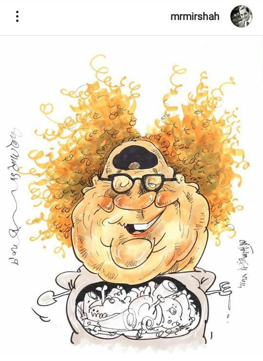 مستر تیستر انتقاد ناپذیر ؛ از فحاشی به یک کارتونیست تا دستور حمله برای ریپورت صفحه!