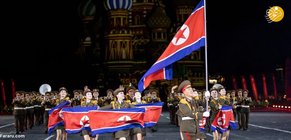 (تصاویر) زنان نظامی کره شمالی در جشنواره بینالمللی موسیقی