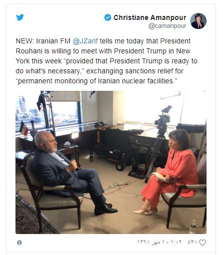 شرط روحانی برای دیدار با ترامپ