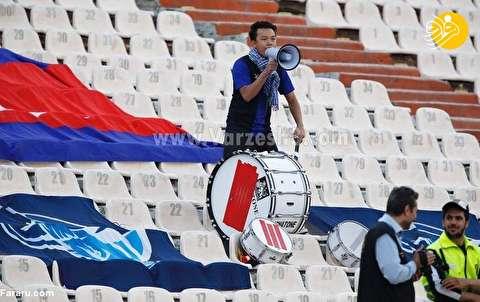 (تصاویر) تنها هوادار کامبوج در ورزشگاه آزادی؛ چهره محبوب بازی!
