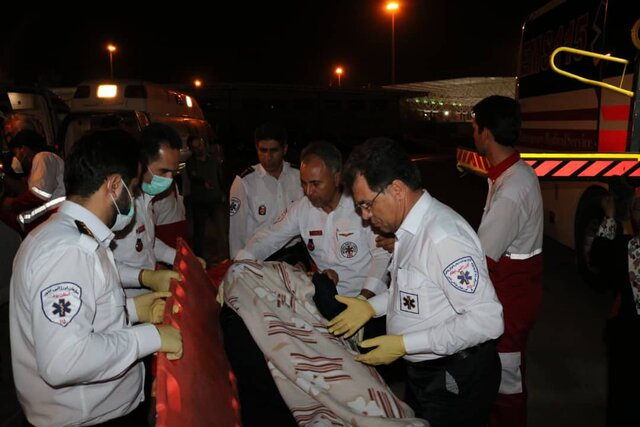 (تصاویر) جزئیات حادثه تصادف اتوبوس زائران کربلا