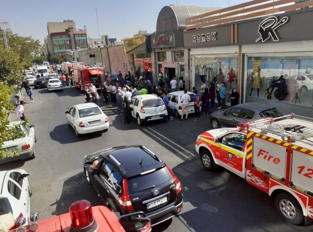 (تصاویر) انفجار شدید در یک مجتمع تجاری در پونک