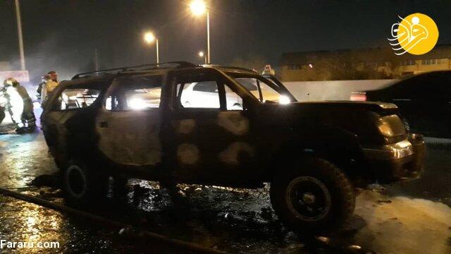 (تصویر) 6 کشته و زخمی در جدال دو نیسان