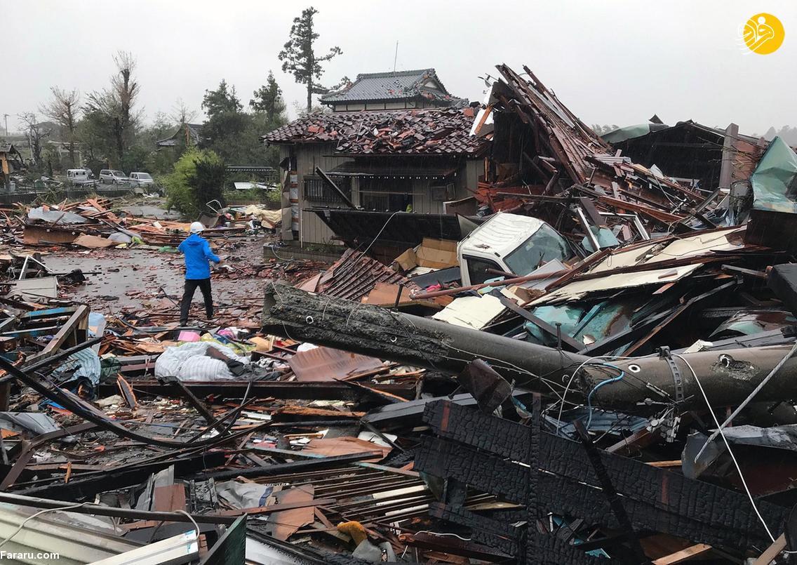 طوفان ژاپن 40 نفر را به کشتن داد