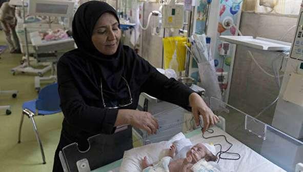 (تصاویر) گزارش رسانه خارجی از بیمارستان کودکان در ایران