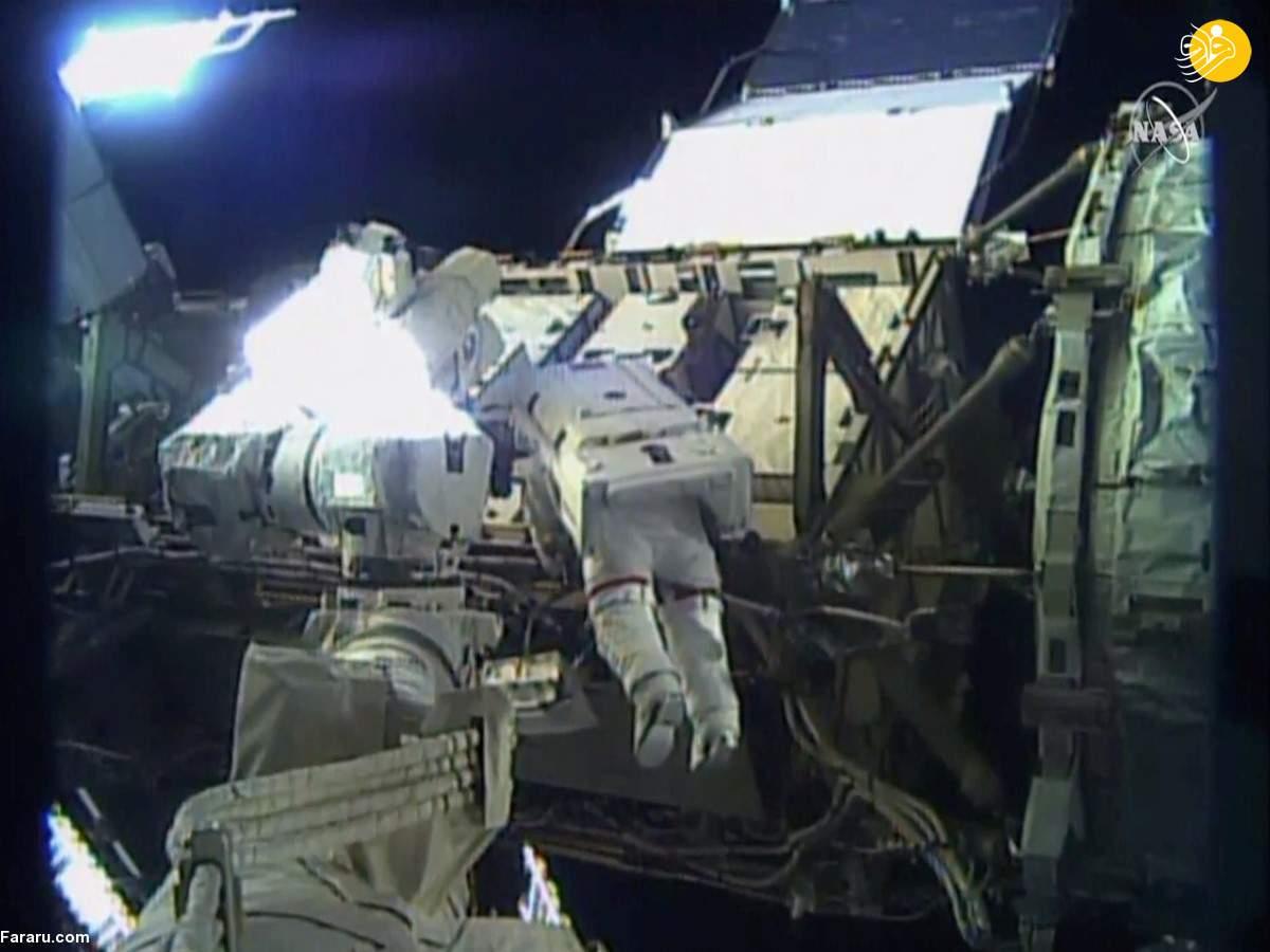 (تصویر) نخستین پیادهروی کاملا زنانه در فضا