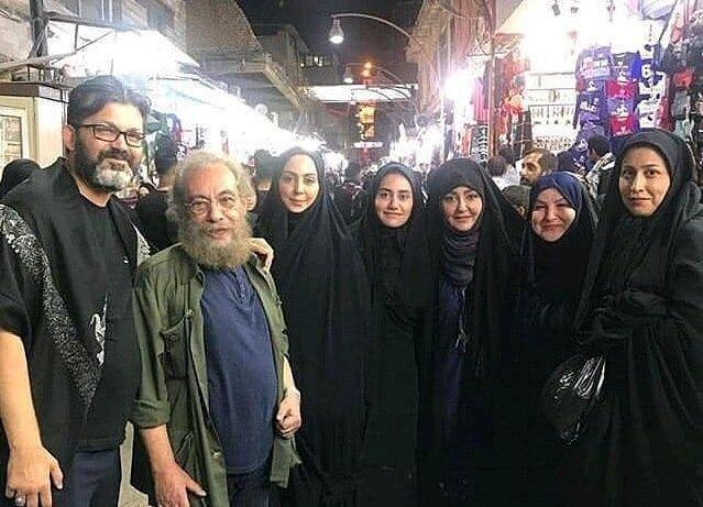 (تصویر) شقایق فراهانی و مسعود فراستی در کربلا