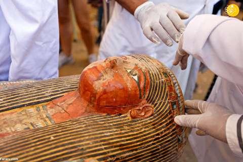 (تصاویر) رونمایی از ۳۰ تابوت چوبی سه هزار ساله در مصر