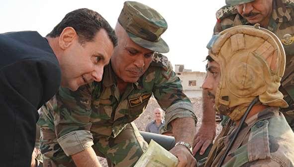 (تصاویر) بشار اسد در خط آتش