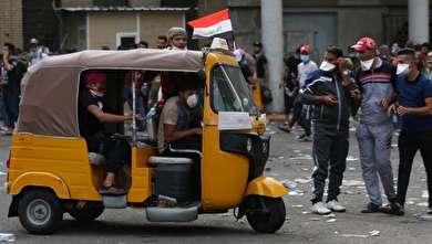 جولان توک توکها در اعتراضات مردم عراق
