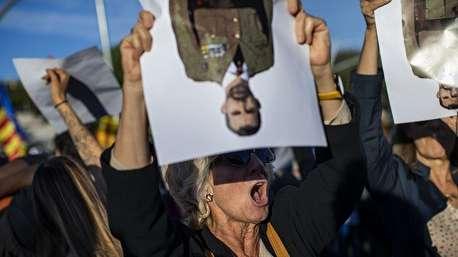اعتراض شدید کاتالانها به حضور پادشاه اسپانیا در بارسلون