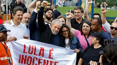 آزاد شدن لولا داسیلوا رئیس جمهوری سابق برزیل از زندان