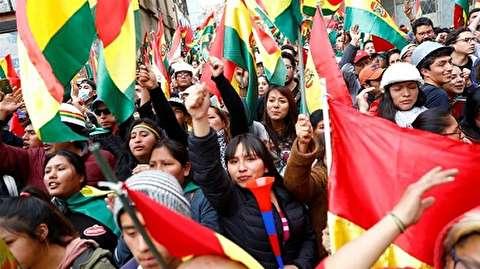 (ویدئو) شادی مردم از کناره گیری مورالس از ریاست جمهوری بولیوی