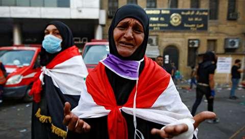(تصاویر) ادامه اعتراضات خشونتبار در بغداد