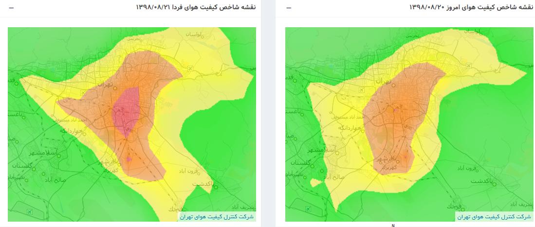 در پی آلودگی هوا برخی مدارس ابتدایی استان تهران فردا تعطیل شدند