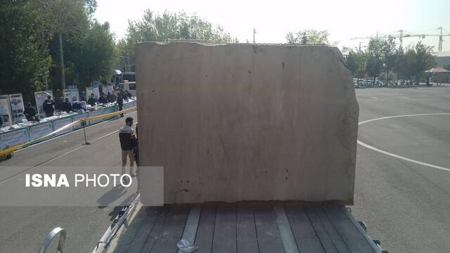 (تصاویر) کشف سنگ تریاک یک تنی در راه پایتخت