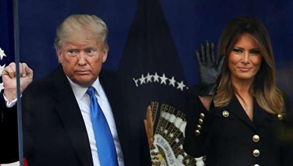 (تصاویر) ترامپ و همسرش در مراسم رژه کهنهسربازان